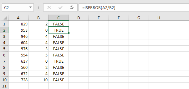 How to Use IsError function in Excel